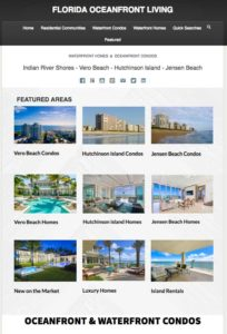 hutchinson island condos for sale screenshot of florida ocean front living home page