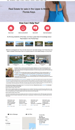 Screen shot of Kim Bagnell/Thaler Home page website